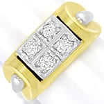 Goldring Handarbeit Bicolor 0,34ct Brillanten