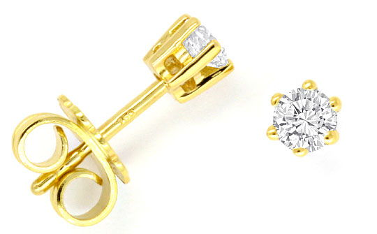 brilliant diamant ohrstecker lupenrein 18k 750 gelbgold s2892. Black Bedroom Furniture Sets. Home Design Ideas