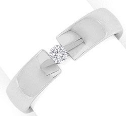 Foto 1, Brillant Diamantspannring 0,10ct River massiv Weissgold, S2903