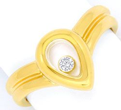 Foto 1, Original Chopard Brillant-Ring Happy Diamonds Gelb-Gold, S2909