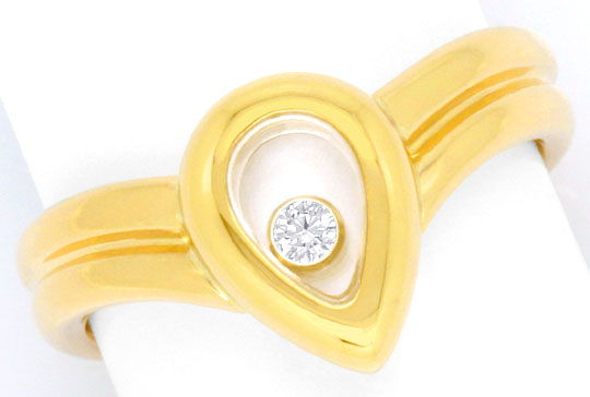 Foto 2, Original Chopard Brillant-Ring Happy Diamonds Gelb-Gold, S2909