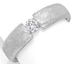 Foto 1, Diamant-Brillant-Spannring Ice-Scratch-Design Weissgold, S2932