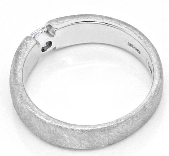 Foto 3, Diamant-Brillant-Spannring Ice-Scratch-Design Weissgold, S2932