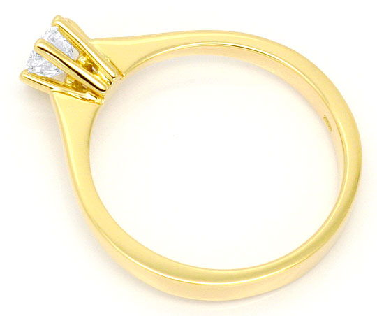 Foto 3, Brillant-Diamant-Ring 18K Gelbgold 0,5ct G VS1 Brillant, S2974