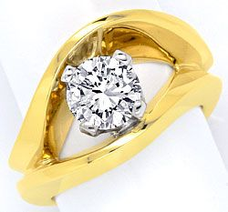 Foto 1, Sensations-Designer-Brillant-Ring 1,30ct River Solitaer, S2975