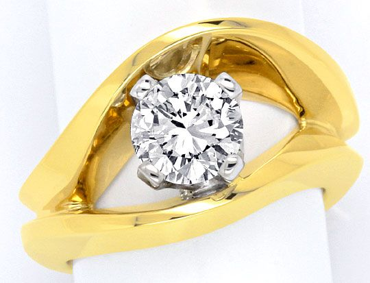 Foto 2, Sensations-Designer-Brillant-Ring 1,30ct River Solitaer, S2975
