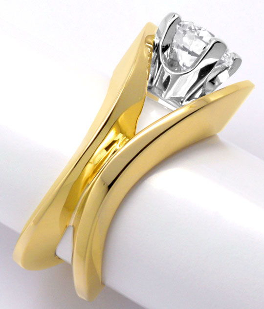 Foto 4, Sensations-Designer-Brillant-Ring 1,30ct River Solitaer, S2975
