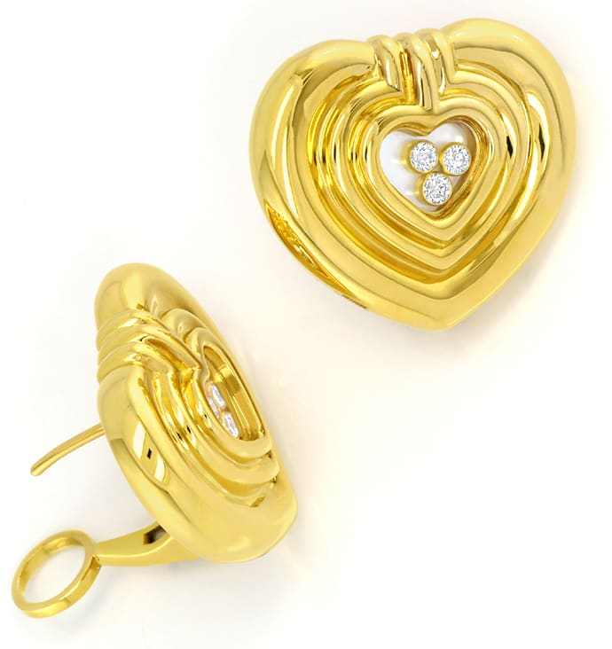Foto 4, Chopard Happy Diamonds Spirit Brillant Ohrstecker Clips, S2993