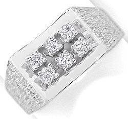 Foto 1 - Edler Diamant Ring mit 0,40ct Brillianten 14K Weissgold, S3000