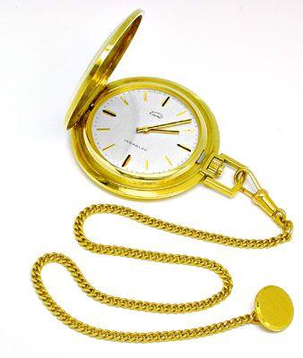 herren gold sprungdeckel taschenuhr mit uhren kette 14k s3009. Black Bedroom Furniture Sets. Home Design Ideas