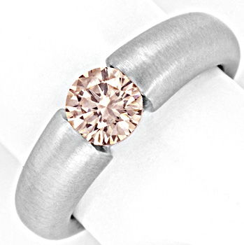 Foto 1, Brillantspannring 1.139ct VVS Superbrillanz 18K Schmuck, S3041
