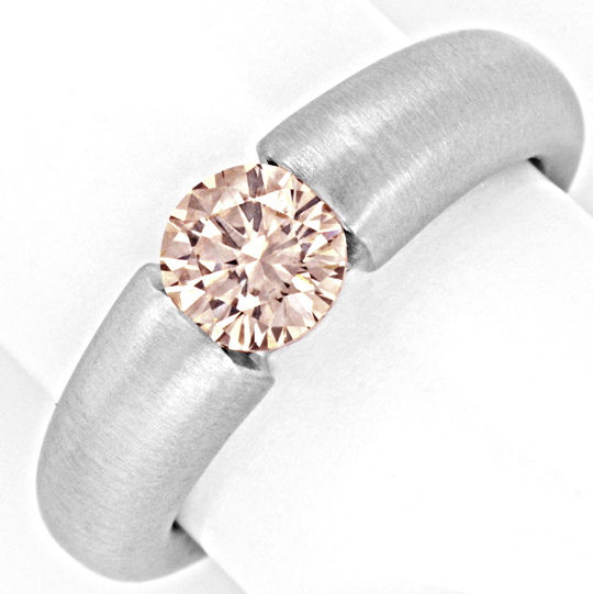 Foto 2, Brillantspannring 1.139ct VVS Superbrillanz 18K Schmuck, S3041