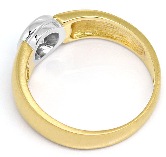 Foto 3, Diamant-Ring Brillant-Solitär 0,44ct Gelbgold Weissgold, S3091