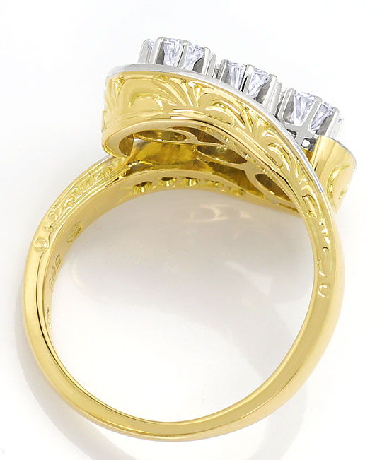 Foto 3 - Goldring mit 1,09ct Diamanten und Brillanten in 14Karat, S3094