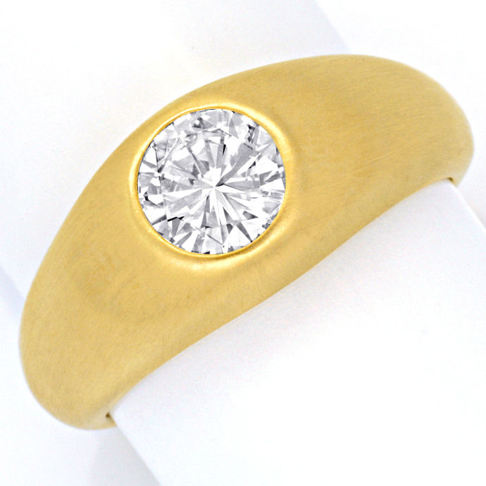 Funkelnder Brillant 1,2ct Lupenrein in 14K Goldbandring, Designer Ring