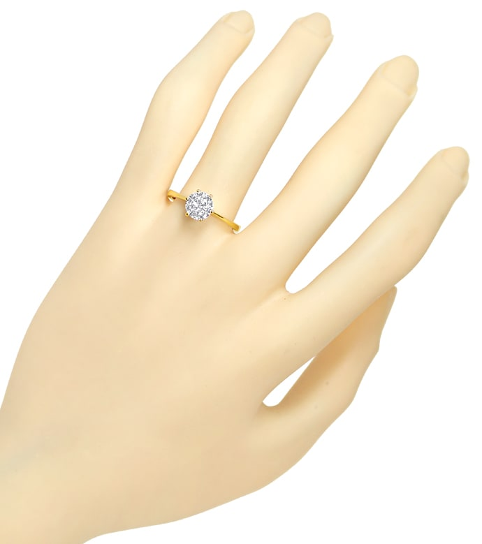 Foto 4 - Brillant 1,01ct Lupenrein Weiss HRD in 18K Goldring, S3142
