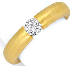 Foto 1, Brilliant-Spannring Gelbgold 0,38ct Brillant Luxus! Neu, S3156