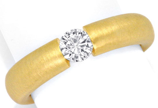Foto 2, Brilliant-Spannring Gelbgold 0,38ct Brillant Luxus! Neu, S3156