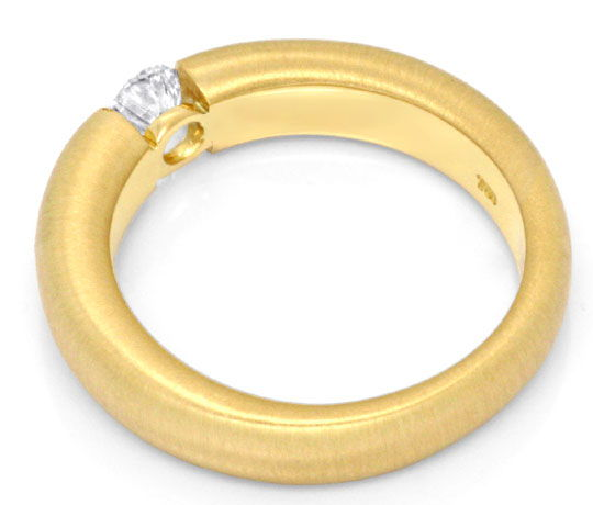 Foto 3, Brilliant-Spannring Gelbgold 0,38ct Brillant Luxus! Neu, S3156