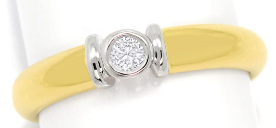 Foto 2 - 0,08ct River Brilliant in Zweifarbigem Goldring 18K/750, S3180
