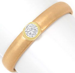 Foto 1, Brillant-Ring 0,13ct River Lupenrein Brilliant 14K Gold, S3210