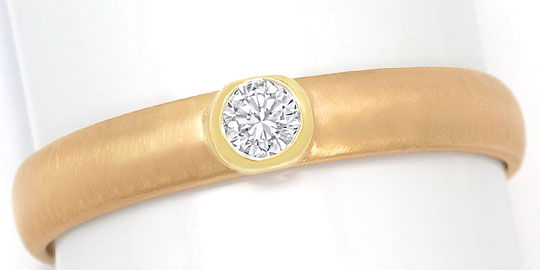 Foto 2, Brillant-Ring 0,13ct River Lupenrein Brilliant 14K Gold, S3210