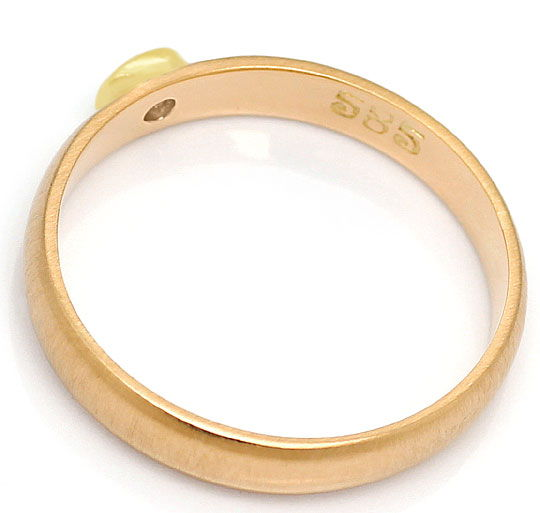 Foto 3, Brillant Ring 0,13ct River Lupenrein Brilliant 14K Gold, S3210