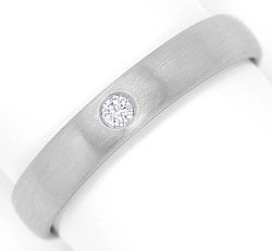 Foto 1, Massiver Platin Ring mit 0,05 Carat River Brilliant 950, S3259