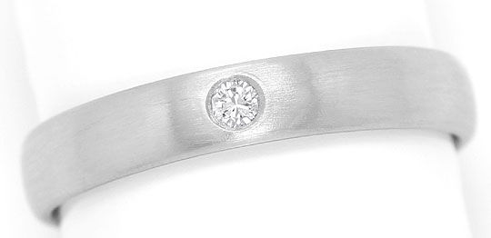 Foto 2, Massiver Platin Ring mit 0,05 Carat River Brilliant 950, S3259