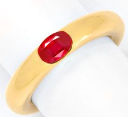 Foto 1, Original Cartier Rubin Ring Bague Ellipse Rubis, Luxus!, S3260