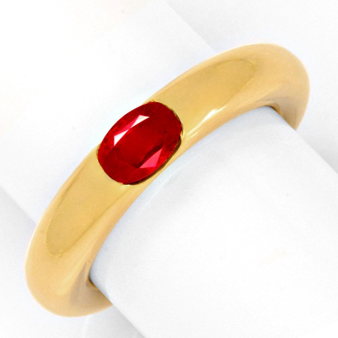Original Cartier Rubin Ring Bague Ellipse Rubis, Luxus!, aus Edelstein Farbstein Ringen