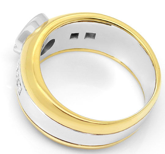 Foto 3 - Ring mit Brillanten und Princess Diamanten Bicolor Gold, S3269