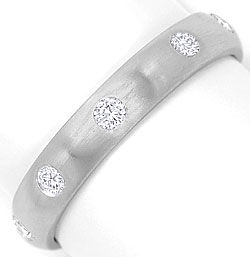 Foto 1, Diamanten Memory Ring 0,36ct River Brillanten Weissgold, S3271