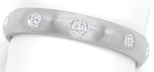 Foto 2 - Diamanten Memory Ring 0,36ct River Brillanten Weissgold, S3271