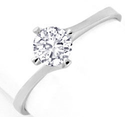 Foto 1, Brillantring 0,56ct Top-Wesselton-Plus Lupenrein Luxus!, S3323