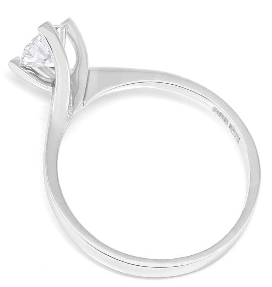 Foto 3, Brillant-Ring mit 0,54ct River Solitär in Weissgold 14K, S3324