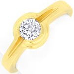 Funkelnder Brillant Ring 0,47ct River VVS, 18K Gelbgold