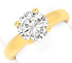 Foto 1 - Brillant Zweikaräter Ring Top Brillanz 18K Gold Schmuck, S3358