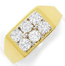 Foto 1, Diamantring mit 1ct Lupenreinen Brillanten Bicolor Gold, S3366
