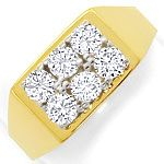 Diamantring mit 1ct Lupenreinen Brillanten Bicolor Gold