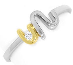 Foto 1 - Brillant River Lupenrein in Design Ring Platin Gelbgold, S3370