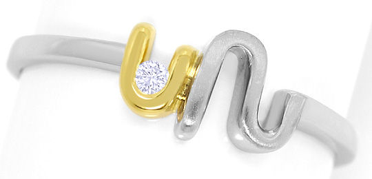 Foto 2 - Brillant River Lupenrein in Design Ring Platin Gelbgold, S3370