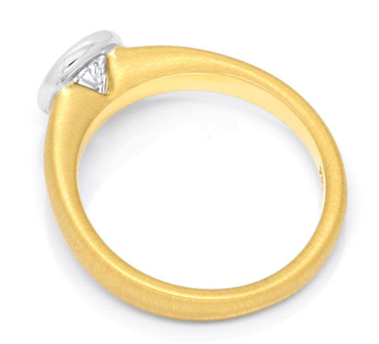 Foto 3, Brillant Ring Einkaräter Diamant massiv 18K Gold Luxus!, S3402
