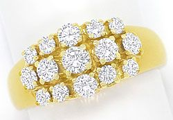Foto 1 - Eleganter Damen Ring mit 1,04ct Brillianten in Gelbgold, S3416