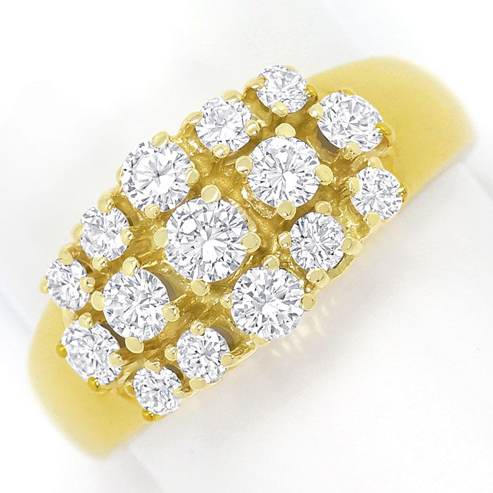 Foto 2, Eleganter Damen Ring mit 1,04ct Brillianten in Gelbgold, S3416