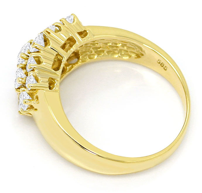 Foto 3, Eleganter Damen Ring mit 1,04ct Brillianten in Gelbgold, S3416