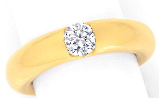 Original Cartier Ring 0 45 Diamant Bague Ellipse Luxus S3417