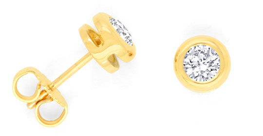 Foto 1 - Brillant Ohrstecker Ohrringe 0,66 Diamanten Luxus! Neu!, S3425