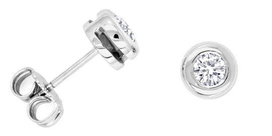 Foto 1 - Brillant Diamant Ohrstecker 0,45ct Weissgold Luxus! Neu, S3426