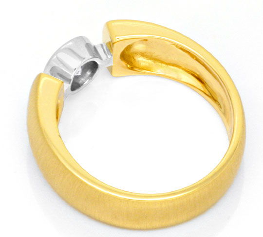 Foto 3, Designer Brilliant Ring 0,48ct E VVS 18K Bicolor Luxus!, S3432